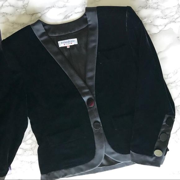 Yves Saint Laurent Jackets & Blazers - Yves Saint Laurent Vintage Black Velvet Blazer